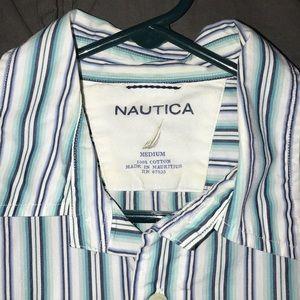 Men's Nautica cotton summer striped shirt